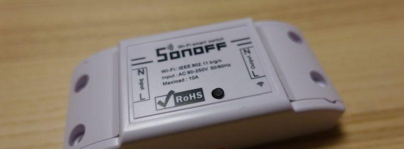 Sonoff basic: Interruptor WiFi muy económico