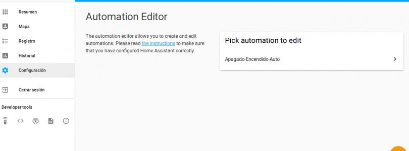 Home Assistant #7: Primera automatización
