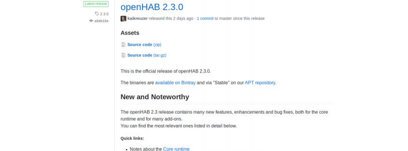 OpenHAB 2.3 finalmente es lanzada