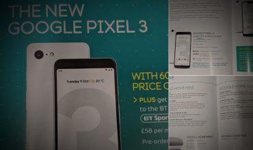 Un anuncio del operador BT en Reino Unido filtra el Pixel 3, el nuevo Chromecast y el Google Home Hub