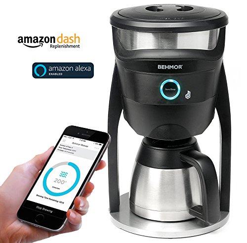 Cafeteras inteligentes que funcionan con Google Home o Alexa