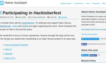 Home Assistant anima para participar en el Hacktoberfest