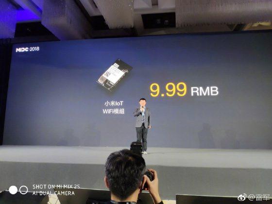 Xiaomi presenta en el MIDC 2018 un módulo WiFi IoT de 1.2€