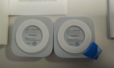 Posible versión del sensor de temperatura Aqara recibida en un pedido