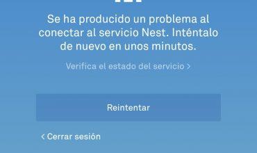 Servicio Nest caído temporalmente