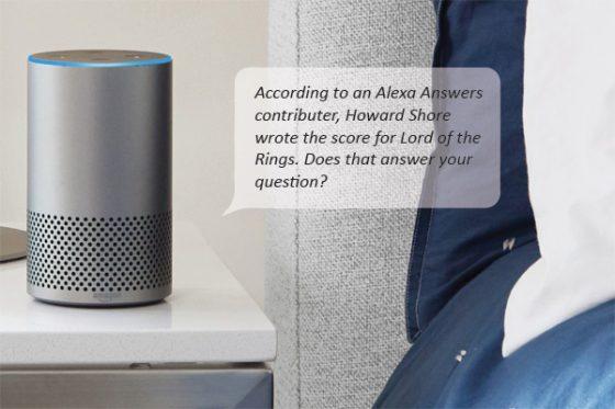 Alexa busca usuarios que respondan preguntas