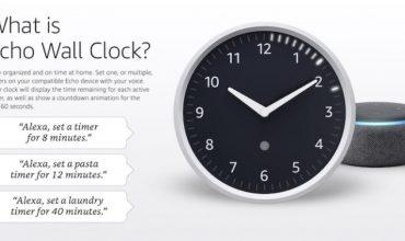 Sale a la venta el Alexa Wall Clock, el reloj de pared inteligente
