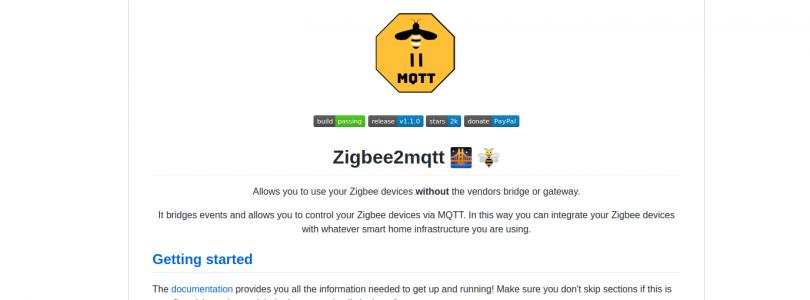 Zigbee2mqtt se actualiza a la versión 1.1.0 con numerosos cambios