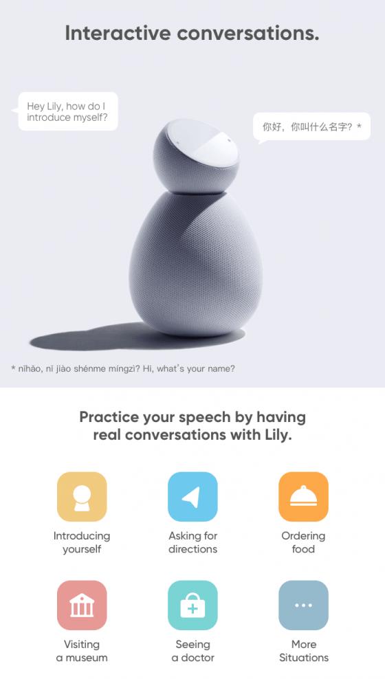 Lily el adorable robot que nos enseña idiomas