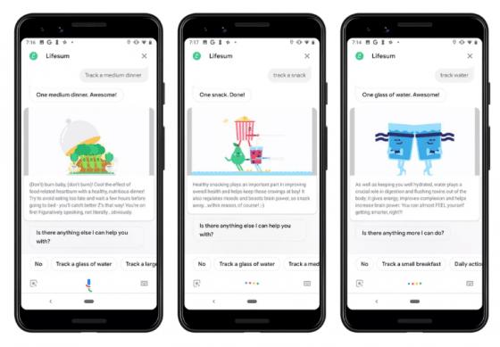 Lifesum lanza una App con Google Assistant para monitorizar nuestros hábitos alimenticios