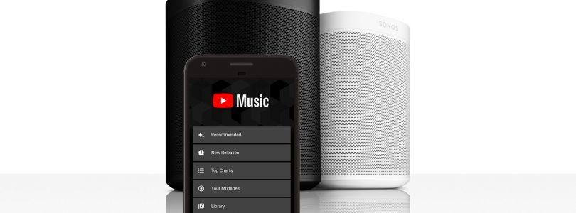 Youtube Music añade integración con los altavoces Sonos, eso si, con suscripción Premium
