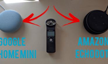 Comparativa de audio entre Google Home Mini y Amazon Echo Dot