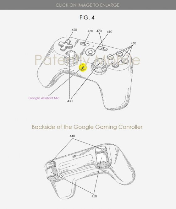 Google patenta un mando de juego con botón para Google Assistant