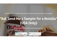 Nutella ofrece muestras gratis por medio de los asistentes virtuales (solo en Estados Unidos)