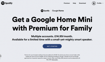 Spotify regala en UK un Google Home Mini a los clientes de su cuenta Premium Familiar