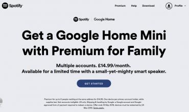 Spotify regala en UK un Google Home Mini a los clientes de su cuenta Premium Familiar