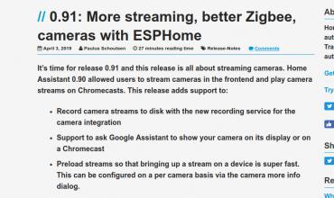 Home Assistant se actualiza a la versión 0.91 mejorando los Streams