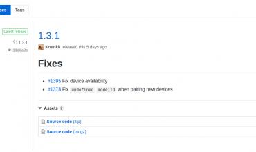 Pequeña actualización en Zigbee2mqtt para alcanzar la 1.3.1