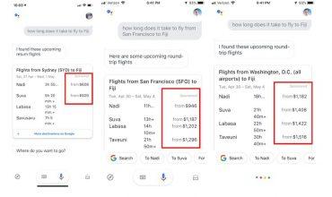 Google Assistant muestra resultados patrocinados en algunas búsquedas