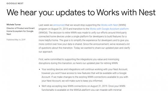 Google recula (parcialmente) y no cerrará la API de Nest a partir de Agosto (a los clientes actuales)