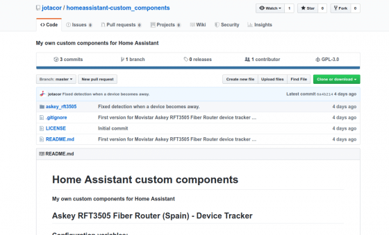 Custom component para Home Assistant para usar los routers Askey RFT3505 como device tracker
