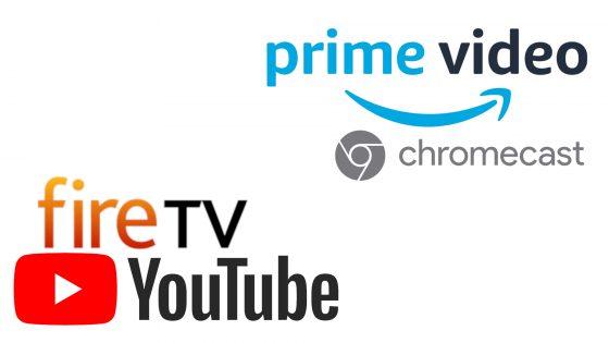 Youtube llega a los Fire TV y Amazon Prime a los Chromecast y Android TV