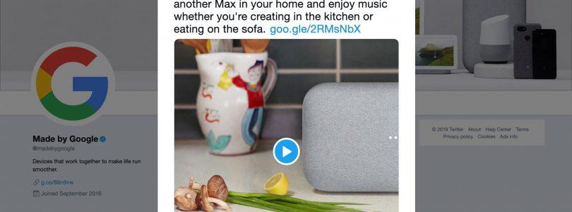 Nueva mención oficial a los altavoces Nest Home en lugar de Google Home