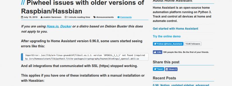 Problema piwheels con la versión 0.96