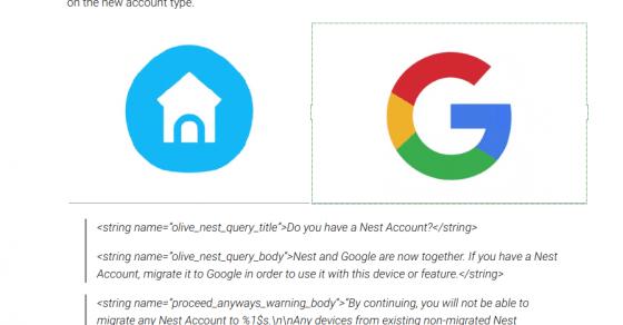 Google Home 2.13.1.10 prepara la migración de las cuentas Nest