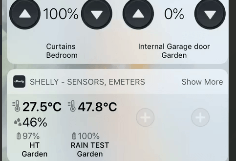 Shelly tendrá widgets para iOS en breve