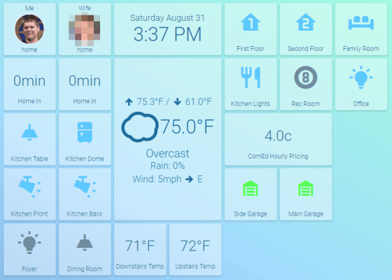Home Assistant Command Center (HACC), el interfaz para tablet de Home Assistant