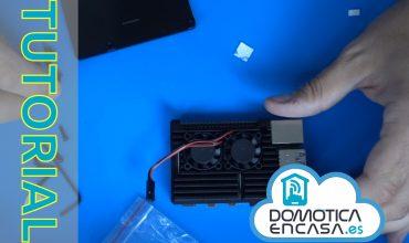 montaje caja con ventiladores y disipadores en Raspberry Pi 4