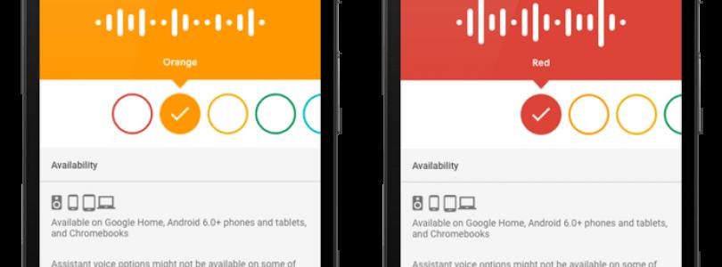 nuevas voces roja y naranja en google assistant