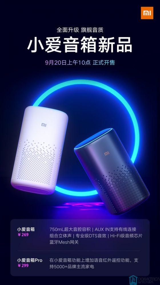 Xiaomi presenta el XiaoAI Speaker, XiaoAI Speaker Pro y un router WiFi AC2100