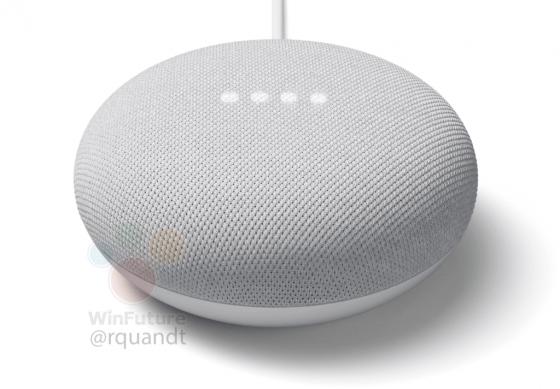 Google Nest Mini visto por completo antes de su lanzamiento hoy