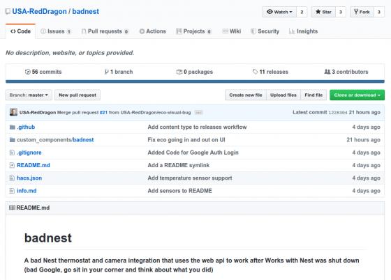 Badnest: Componente para Home Assistant para usar los dispositivos Nest