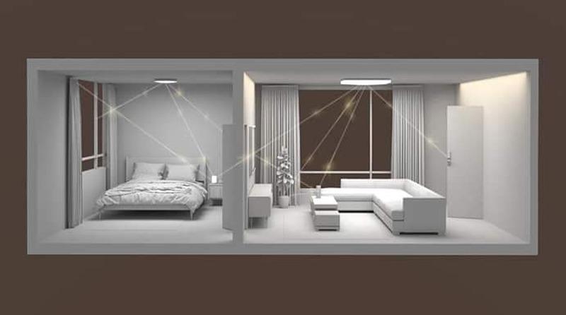 Salón con lámparas de techo Xiaomi