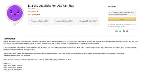 "Nuevo Skill de Alexa ""Ella la medusa"" ayuda a niños con epilepsia severa"