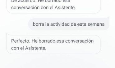 borrar comandos de google assistant