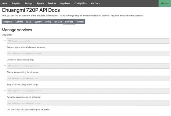 documentación de la API