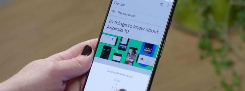 google assistant leyendo una página web
