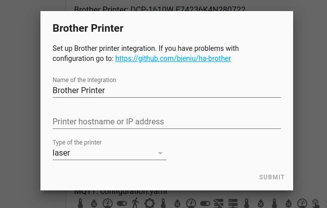 custom component Brother en Home Assistant