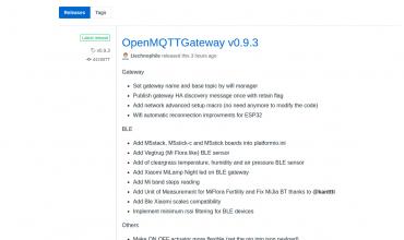 openmqttgateway versión 0.9.3
