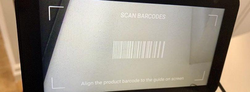 amazon echo show escaneando códigos de barras