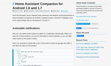 Importantes novedades en la App de móvil de Home Assistant