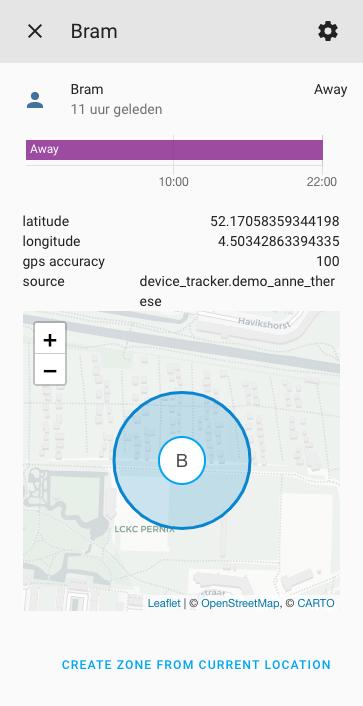 Información sobre los usuarios y device tracker