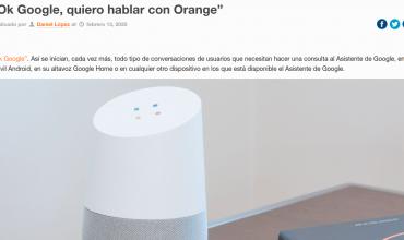 orange activa su action para Google Assistant