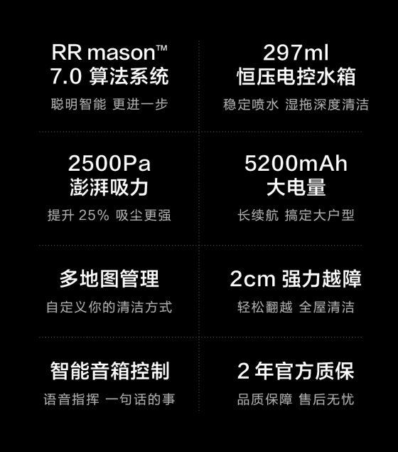 Especificaciones del robot aspirador