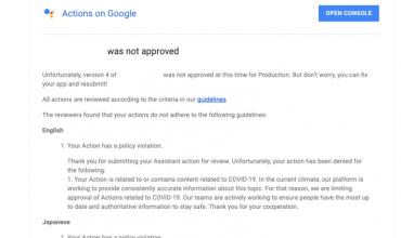 google bloquea las actions del coronavirus