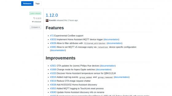 Zigbee2mqtt se actualiza a la versión 1.12.0